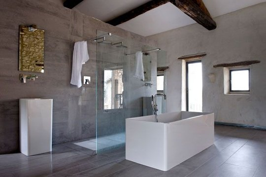 La salle de bain contemporaine for Baignoire contemporaine design