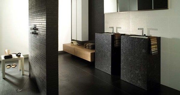 photo douche italienne Porcelanosa Granito Len