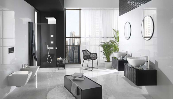 photo douche italienne porcelanosa