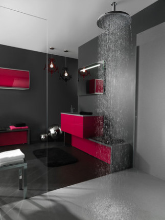 la salle de bain contemporaine. Black Bedroom Furniture Sets. Home Design Ideas