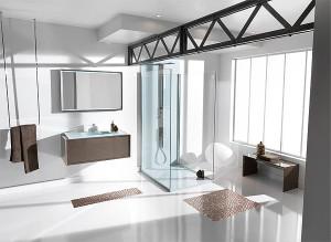 photo salle de bain effet laque ambiance bain