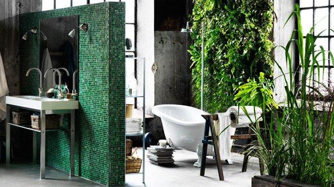une salle de bain nature pour se ressourcer. Black Bedroom Furniture Sets. Home Design Ideas