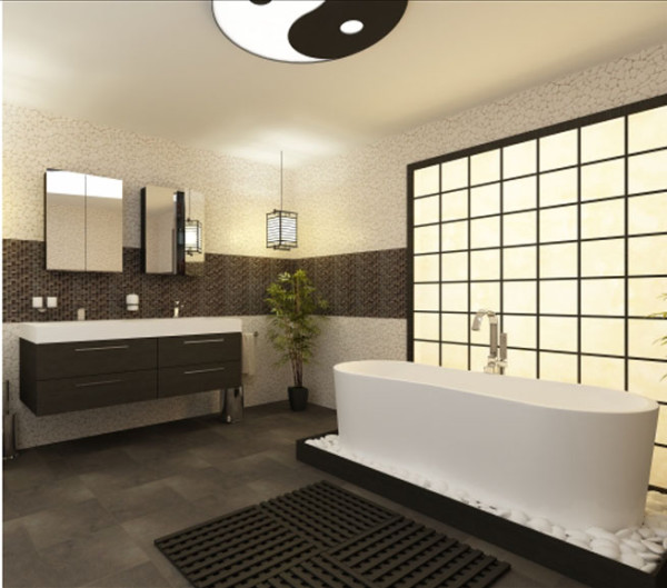 meuble salle de bain japonais. Black Bedroom Furniture Sets. Home Design Ideas