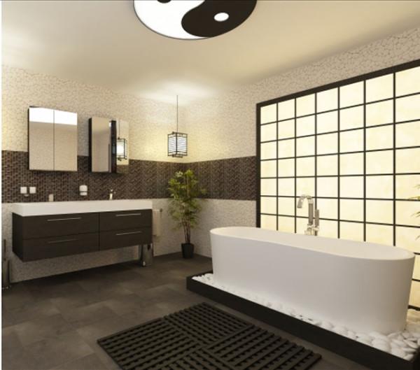 salle de bain zen japonaise