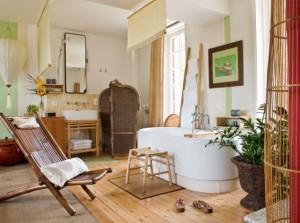 photo salle de bains nature