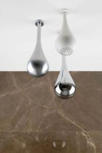 pomme de douche design goutte d'eau