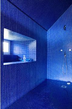 salle de bains bleue - jean marc palisse