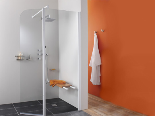 salle de bain moderne orange leroy merlin